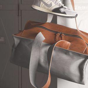 Brown grey bag