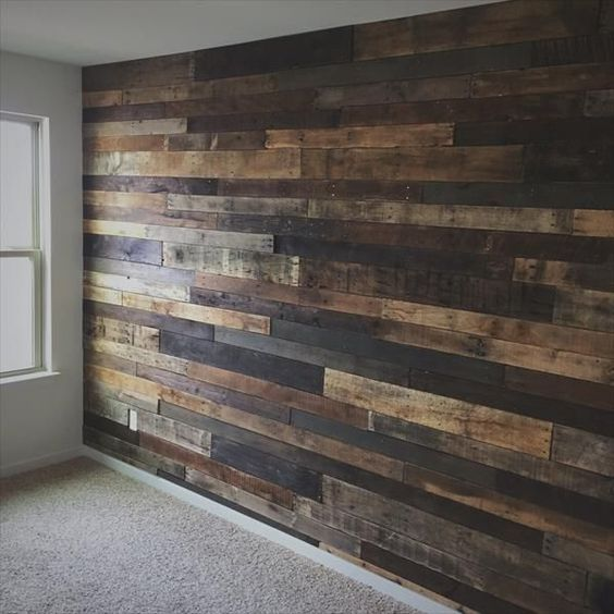 Amazing And Easy To Do Wood Walls Ideas Solid Diy Wood Pallet Wall Diy Wood Wall Rustic Diy