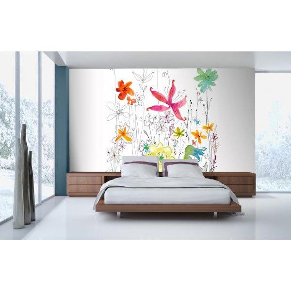 Fleurs Dessins - panoramique Komar