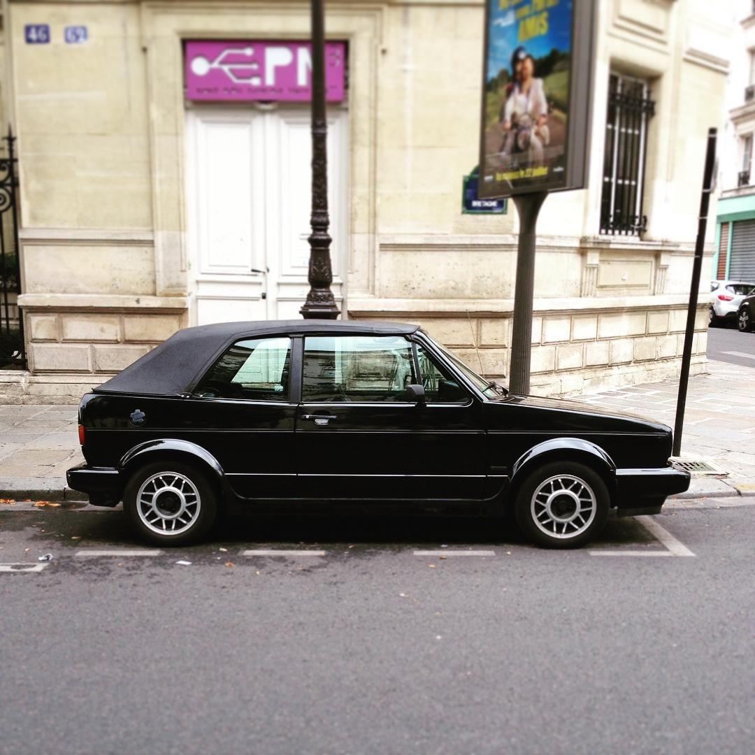29/07/2015 BLACK || #volksWagen #volkswagengolf #golfmk1 #vintagevolkswagen #DansLeTiequarDeCedric #oldcar #vintagecar #classiccar #vintage #oldvolkswagen  #volkswagenvintage #cadragealacedric#paris# #paris3 #pariswalk #blackcar  #paris #ruedebretagne  #golfcabrio#vwlowers #vwfamily