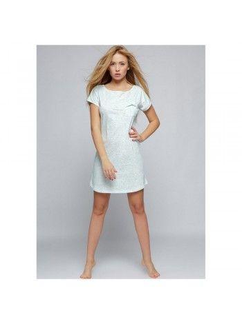 Ночная сорочка хлопковая Karen бирюзовая f3ee1770b5f72