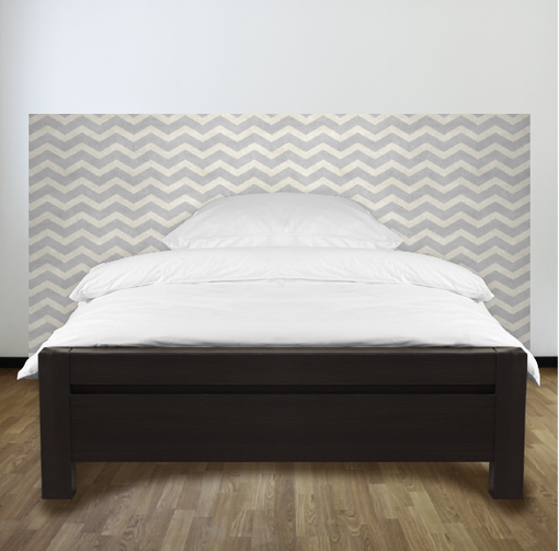 Paper Chevron headboard.