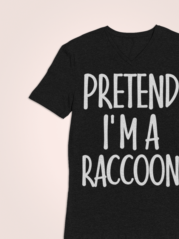 Vintage One Minute Costume Gifts Ideas for Men/Woman - Pretend I'm Raccoon T-Shirt. Amp up collection of accessories: vampire ghost costume, mug, outfits, diy, towel, witches hat. This Tshirt - Funny present for farmer, zombie, father, witches, wife, gardener, parents on Halloween Night, Christmas. #mamp;mcostumediy