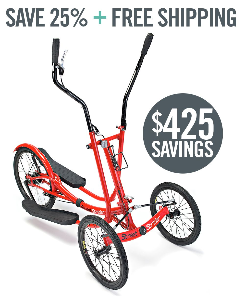 Elliptical Machine | Single Speed Chainless | Eclipse by StreetStrider - Making Fitness Fun | Outdoor Exercise Bike