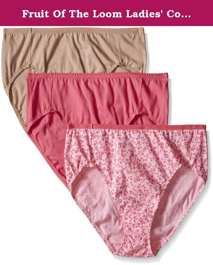 1cc9974c0fb6 Fruit Of The Loom Ladies' Cotton Hi Cut Panties Multi 3 Pack (D22501)  6/Assorted. Fruit of the Loom underwear appeal to a broad range of women -  from ...