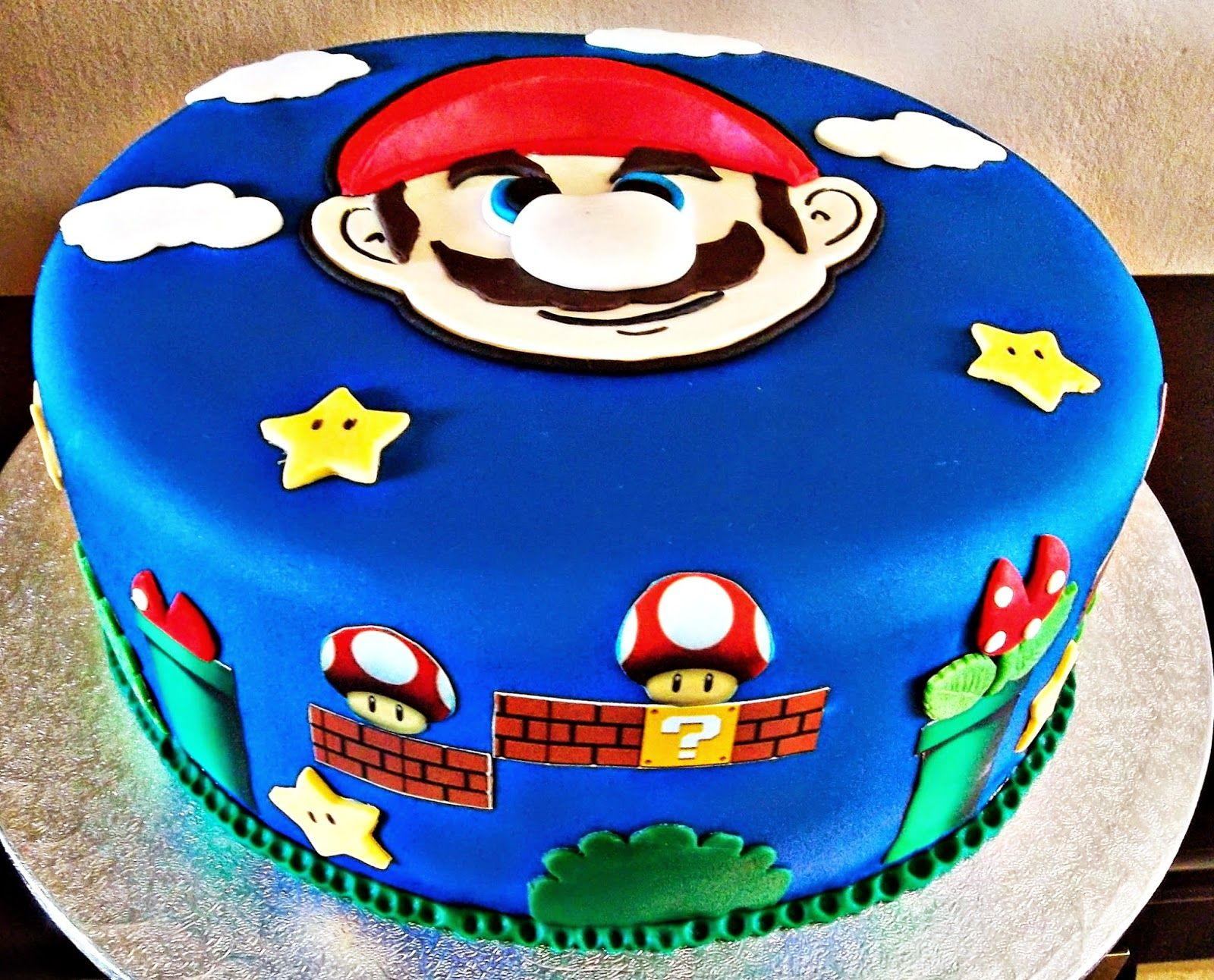 CREMA Y CHOCOLATE: TARTA SUPER MARIO BROS | Birthday Cakes ...