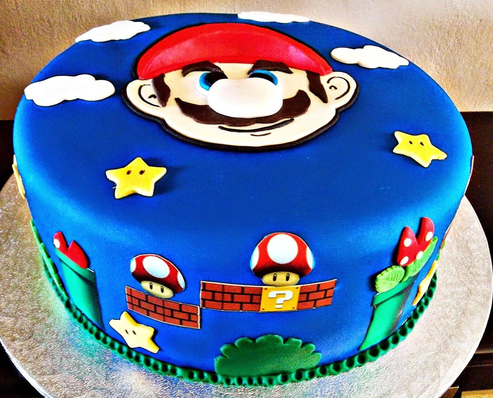 Crema Y Chocolate Tarta Super Mario Bros Super Mario