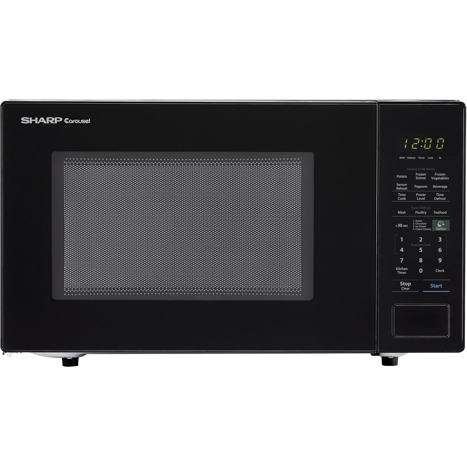 Sharp Carousel 1 4 Cu Ft 1000w Countertop Microwave Oven In