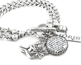 Silver Personalized Quote Bracelet by BlackberryDesigns on