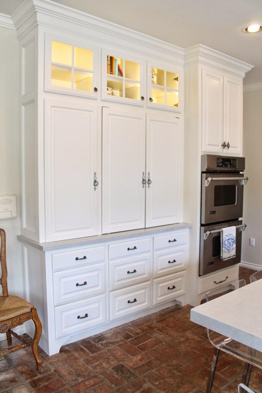 Eleven Gables Hidden Appliance Cabinet And Desk Command Center In The Kitchen Hide Appliances Kitchen Remodel Appliance Cabinet