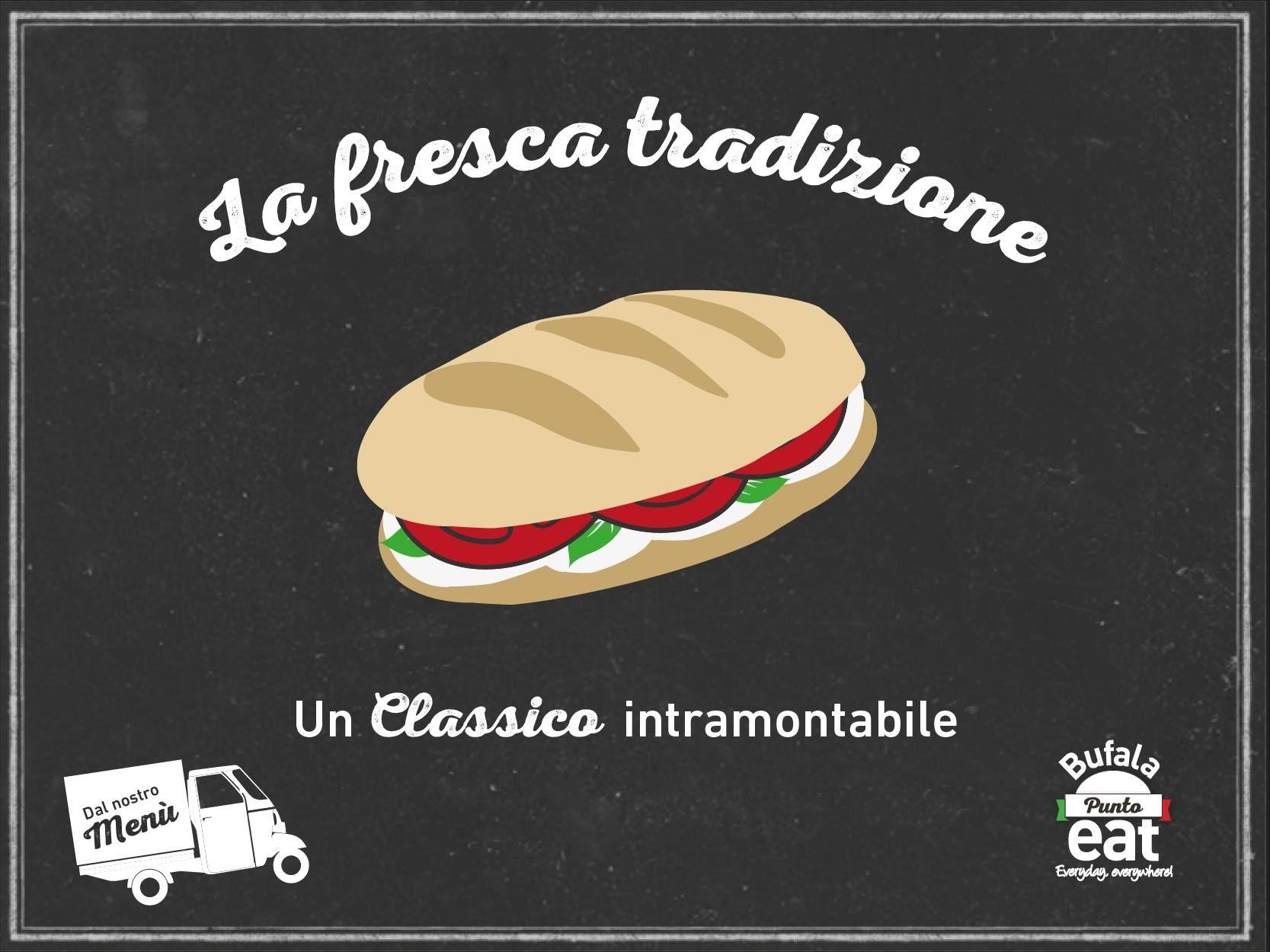 Ecco un Grande Classico: Pane, Pomodoro e Mozzarella a fette, rigorosamente di #Bufala! #streetfood #franchising #laforzadellatradizione