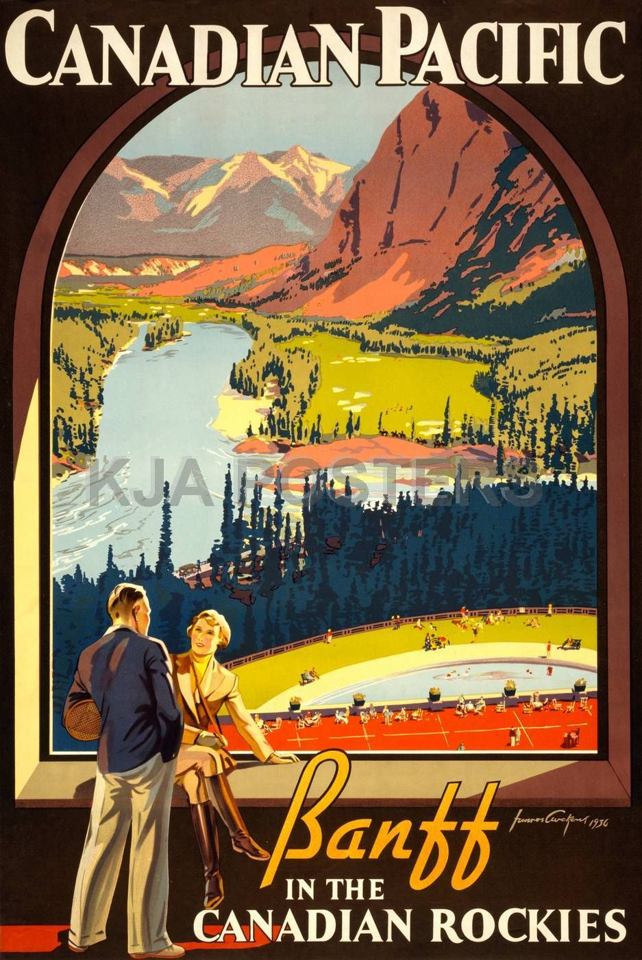 Travel Canadian Pacific Vintage Canada Travel Wall Decor Art Poster Print