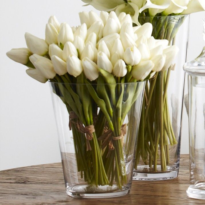 Bunch of White Tulips - The simple additional of flowers to any room give an instant feel of freshness. Alternating flowers to reflect and compliment the current season's and decor colour pallete.
