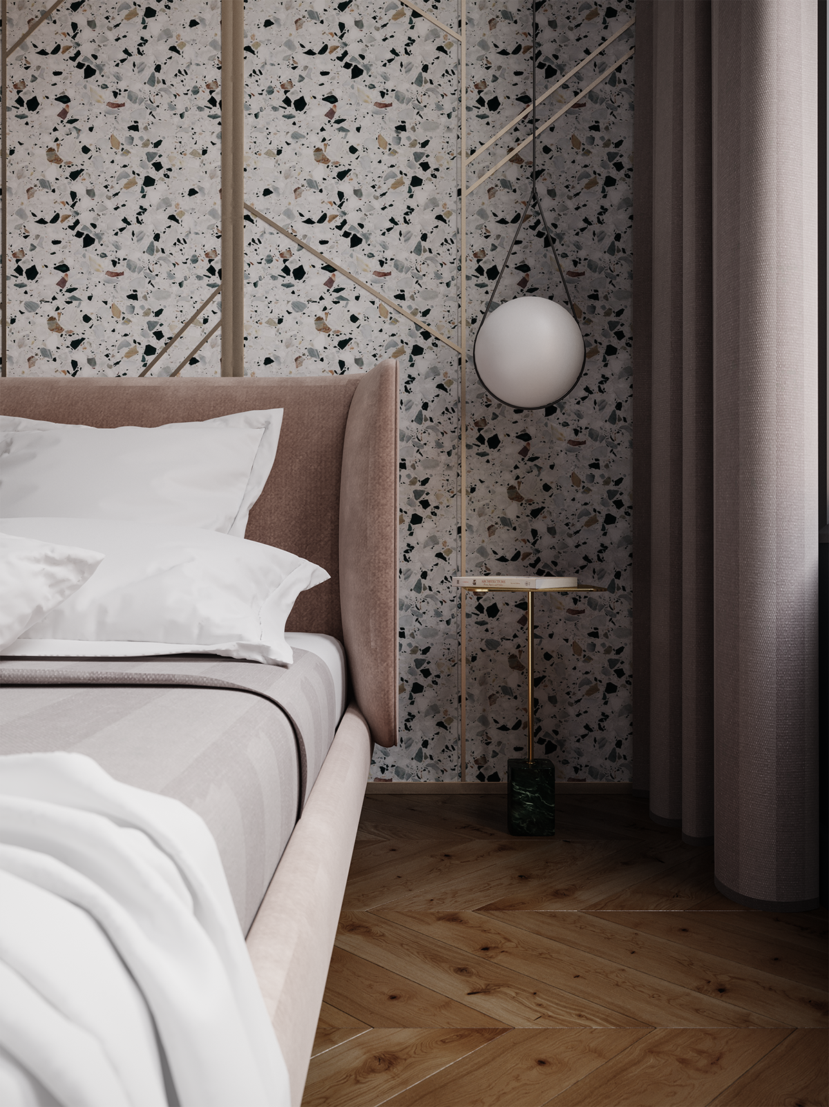 A spacious 65 sq m apartment – interior in London for an Italian