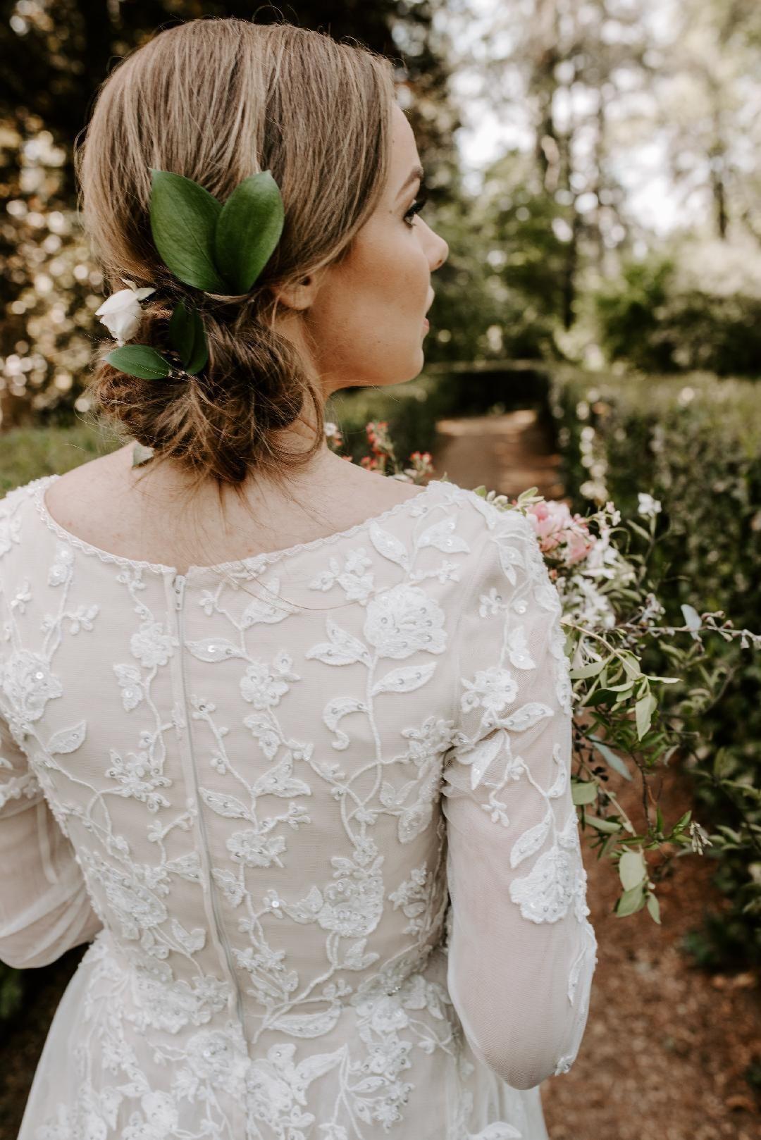 Designer LDS wedding dress Modest by Mon Cheri TR20 LDS Temple ...