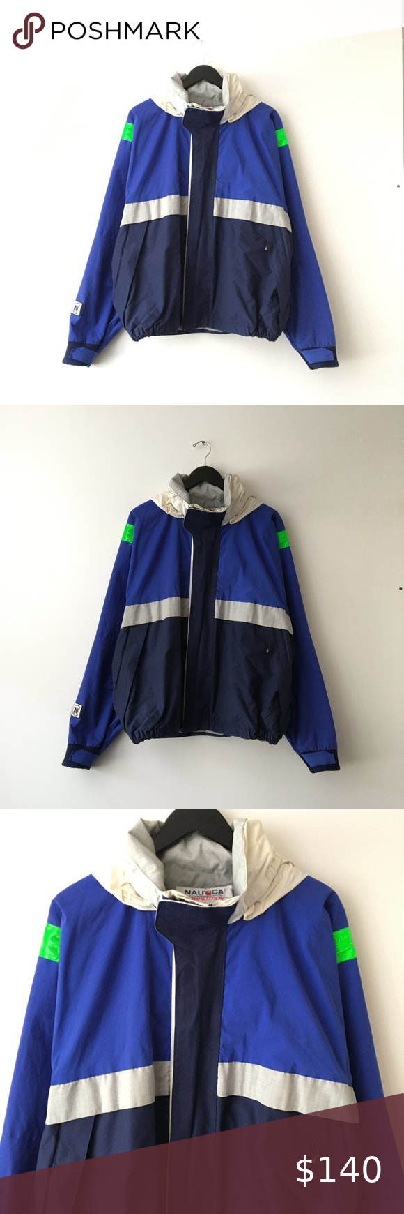 90s Vintage Nautica Competition Jacket Coat Xl In 2020 Color Block Jacket Jackets Coats Jackets