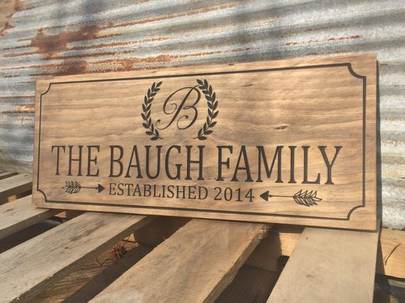 """Custom Engraved Wooden Sign 18/"""" x 11.25/"""""""