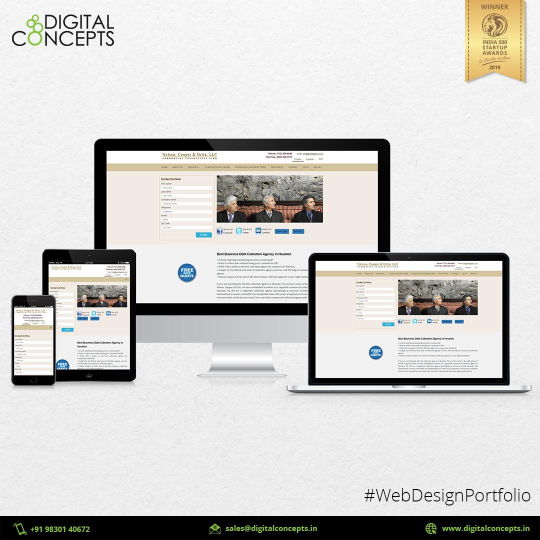 Web Design Portfolio Digital Concepts In 2020 Portfolio Design Portfolio Web Design Web Design