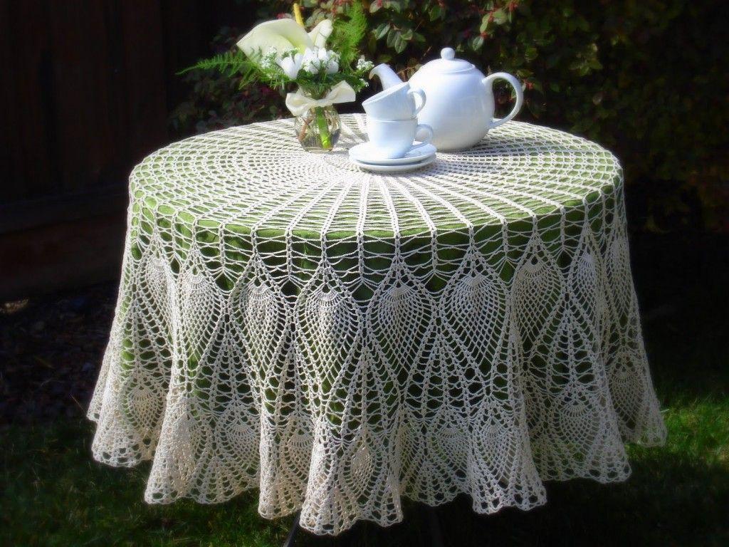 Free Crochet Round Tablecloth Patterns Amazing Design