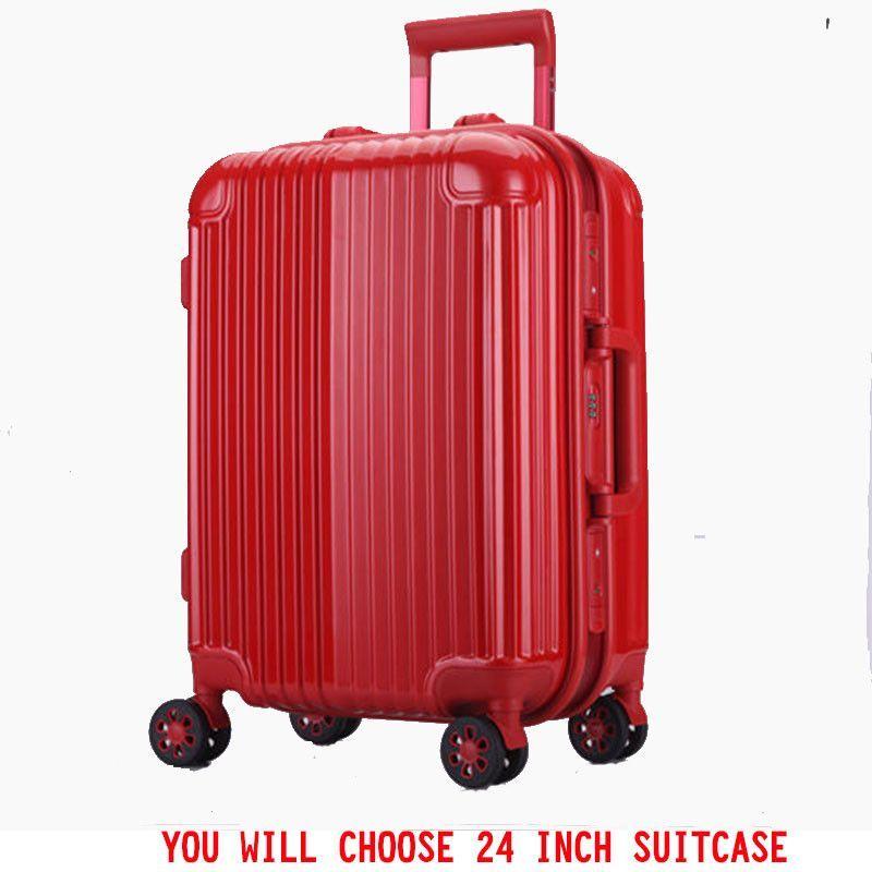 20 22 24 inch luggage aluminum frame angle drawbars universal ...