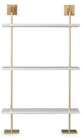 Marais 3 Tier Wall Shelf White Gold In 2020 Glass Shelves Decor
