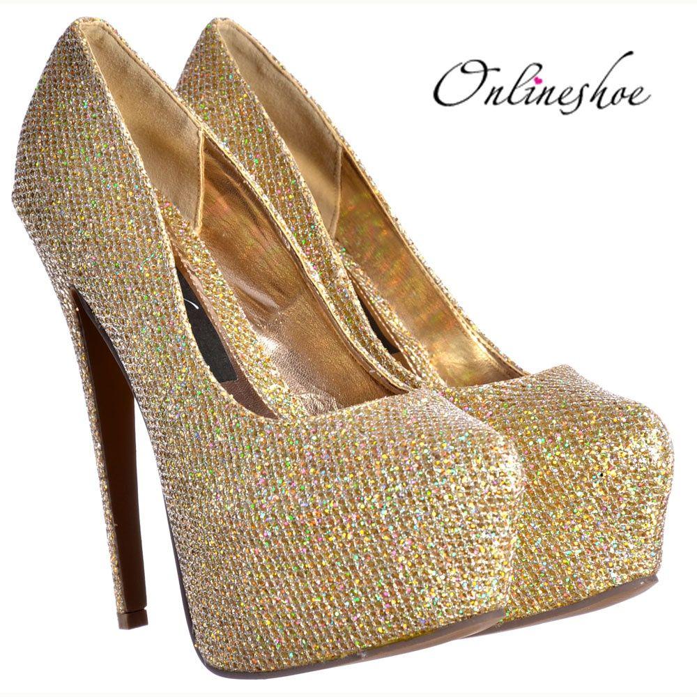 d64e70cc1c01 Gold High Heels