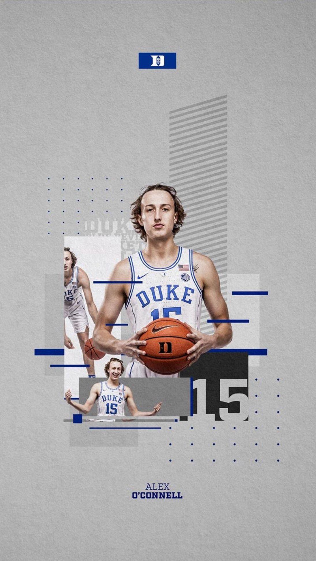 Alex O'Connell Duke Blue Devils Final Four Basketball Jersey - Blue