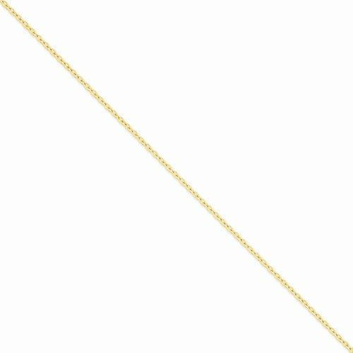 14k Yellow Gold Round Open Link Cable Chain 2.4MM