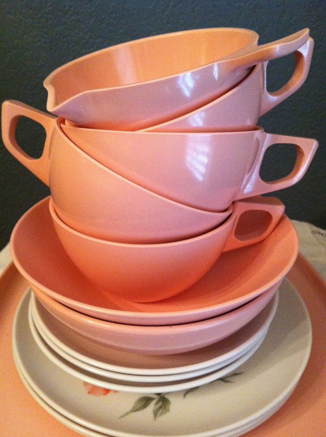 Items similar to Stetson Melmac Dinnerware Mixed Lot Vintage on Etsy & Stetson 1950s Melmac Dinnerware Mixed Lot Vintage by VintagebyJen ...