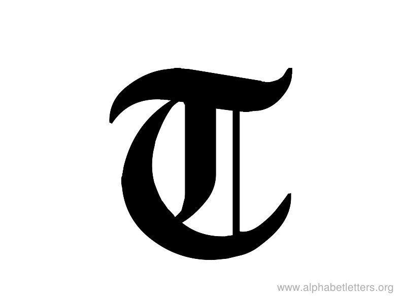 Alphabet Letter Gothic T Monograms Lettering Alphabet Gothic Fonts