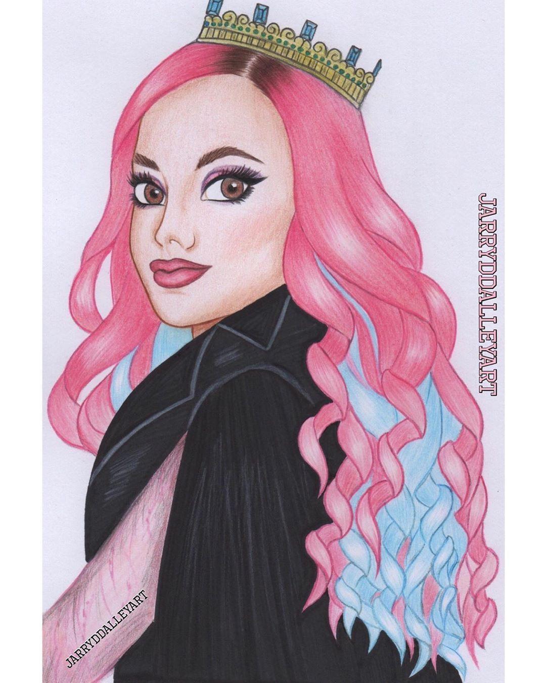 Queen Of Mean Audrey Descendants 3 Sarahmjeffery Disneydescendants Descendants Descendants2 Disney Art Drawings Disney Descendants Beautiful Drawings