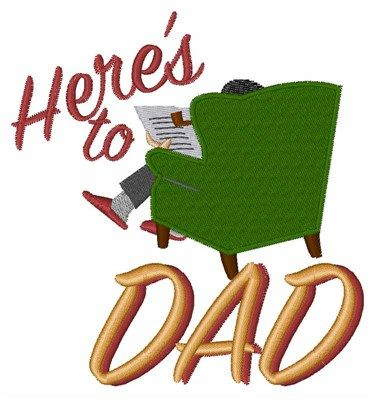 Heres To Dad Embroidery Design Annthegran Free Embroidery