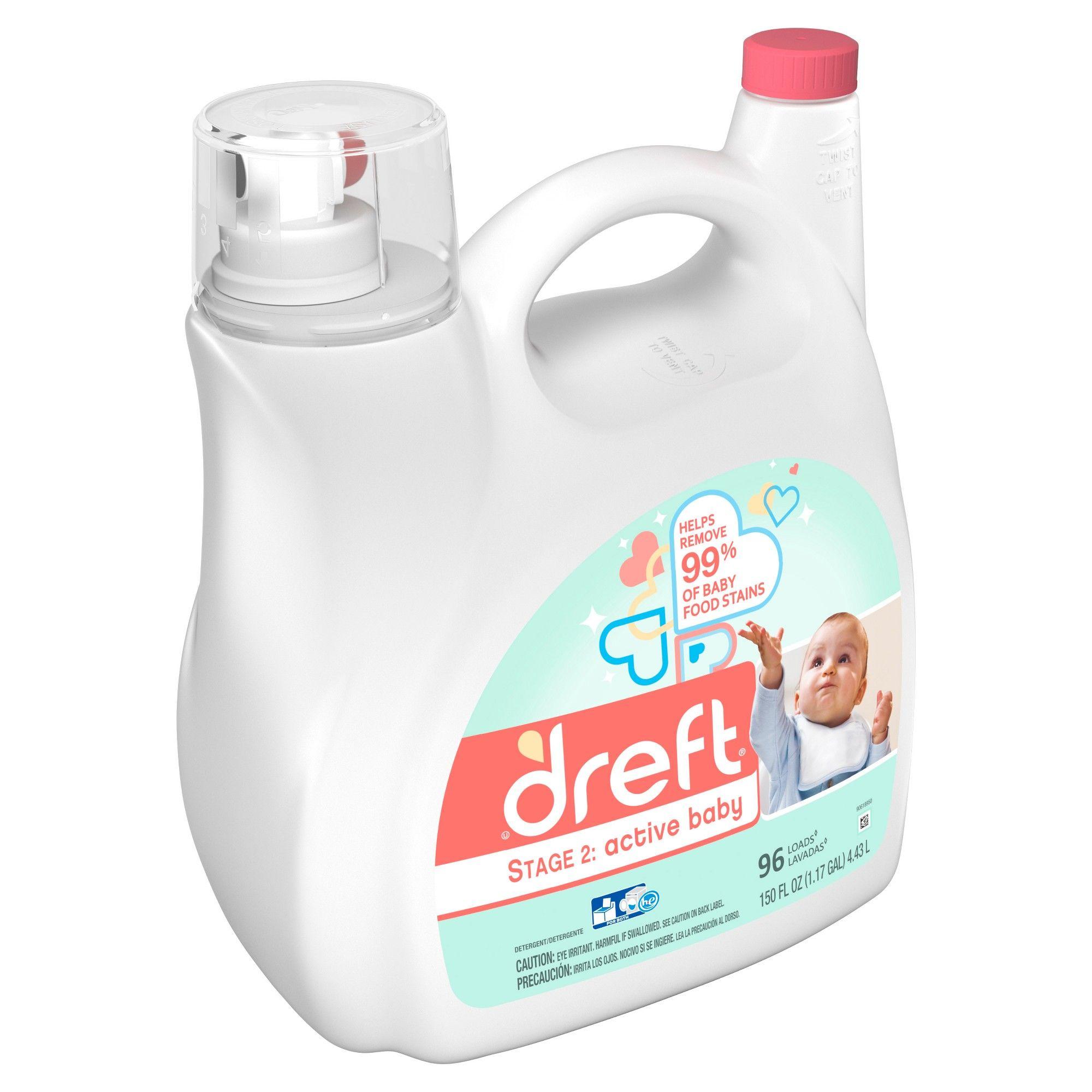 Dreft Stage 2 Active Baby He Compatible Liquid Laundry Detergent