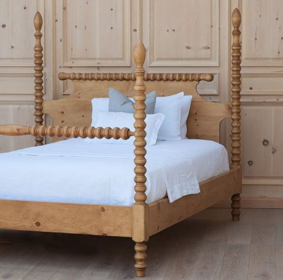 spindle bed four poster king size solid