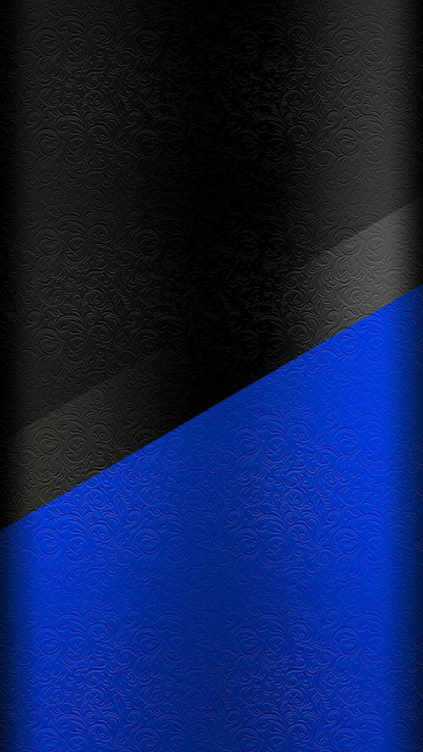 Dark S7 Edge Wallpaper 01 Black And Blue Floral Pattern