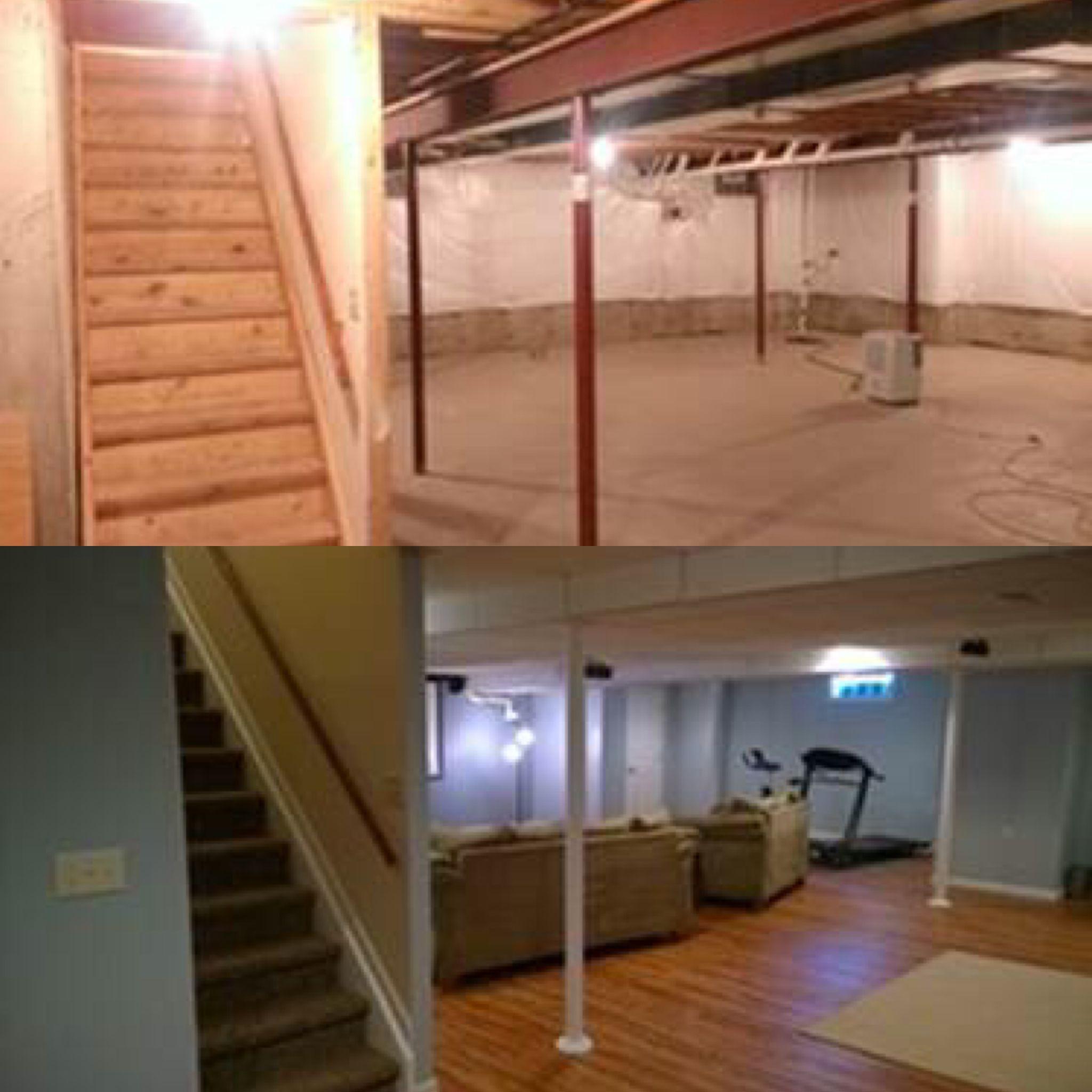 before & after basement finishing photos wahoo walls diy happy