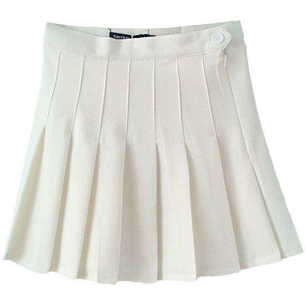Pleated High Rise Tennis Skirt Polyvore White Pleated Skirt High Waisted Pleated Skirt Pleated Tennis Skirt