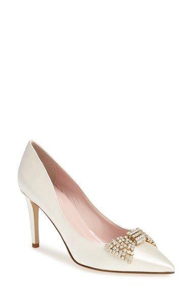 11f36e8b76bd Beautiful wedding shoes! kate spade new york  pezz  pumps