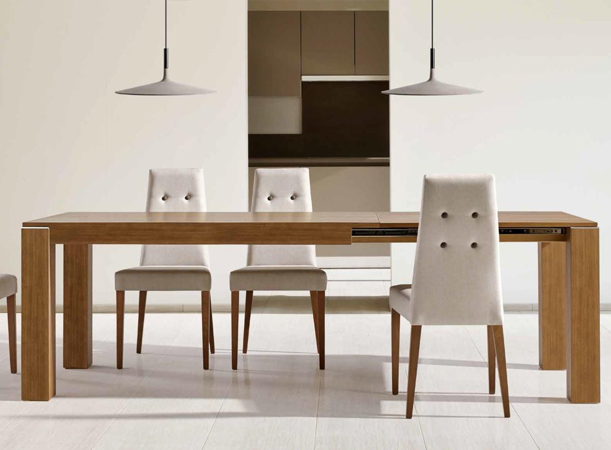 Conjunto De Mesa Extensible De Comedor Y Sillas De Comedor De Diseño