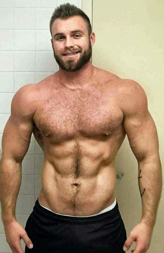 Sexy Hairy Muscular Men