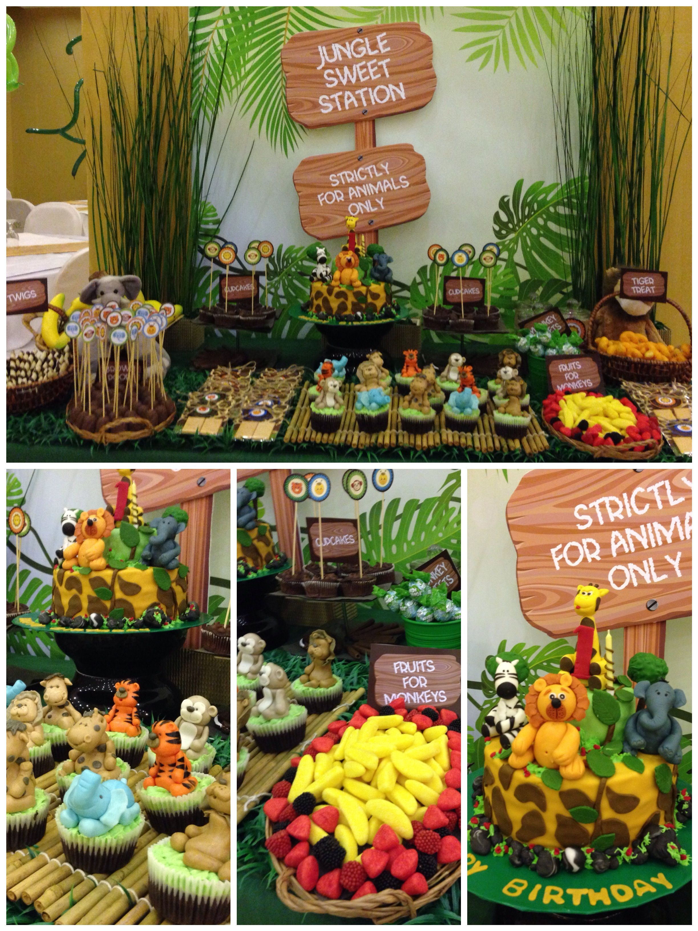 Jungle Theme LJs First Birthday designed by Itsy Glitz Creative