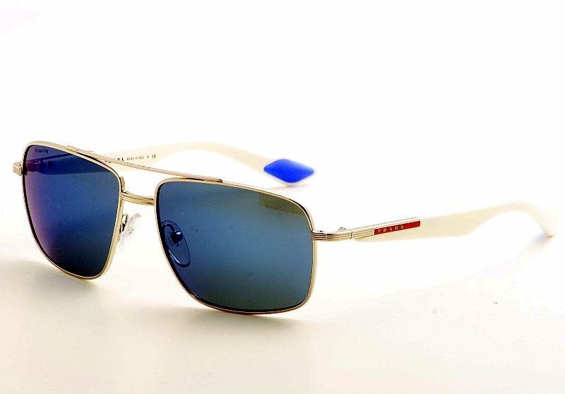 7a5005aa66 Prada Sport SPS51M 1BC9P1 Mens Blue Mirror White Silver Aviator ...
