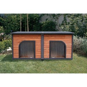 Precision Pet Outback Duplex Dog House Petsmart 399 Hoping Brian Can Build This Cheaper Dog House Plans Dog Houses Dog House