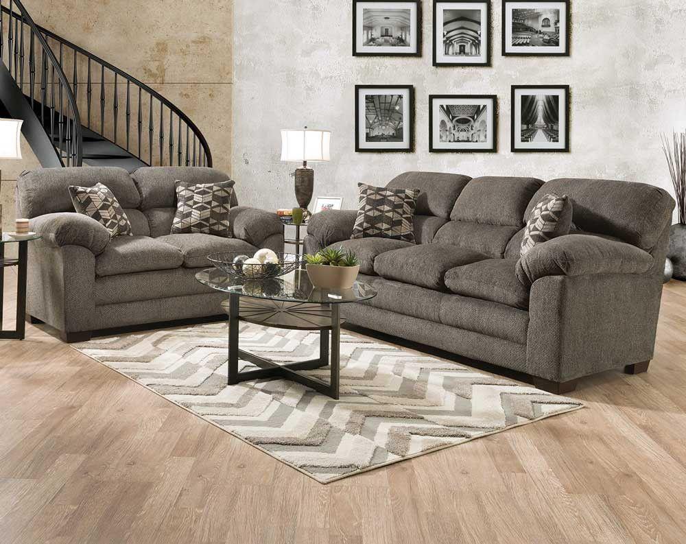 Teano Graphite Sofa Loveseat Sofas And Loveseats Living Rooms American Freight Loveseat Living Room Sofa And Loveseat Set Loveseat Sofa