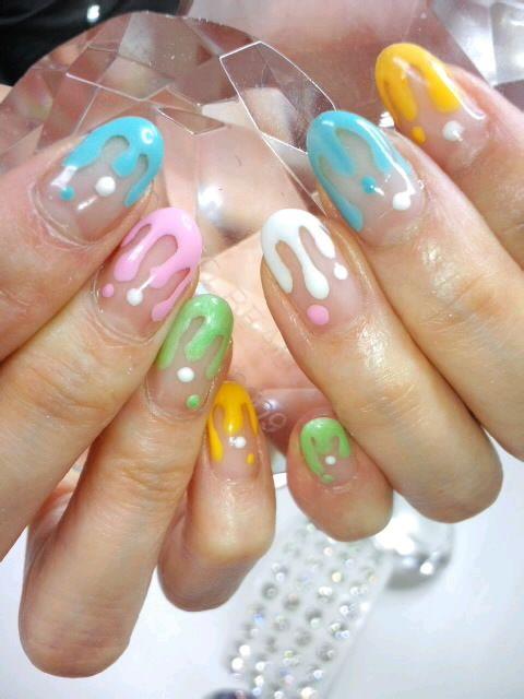 looks like melted icecream Nails Pinterest Uas pintadas