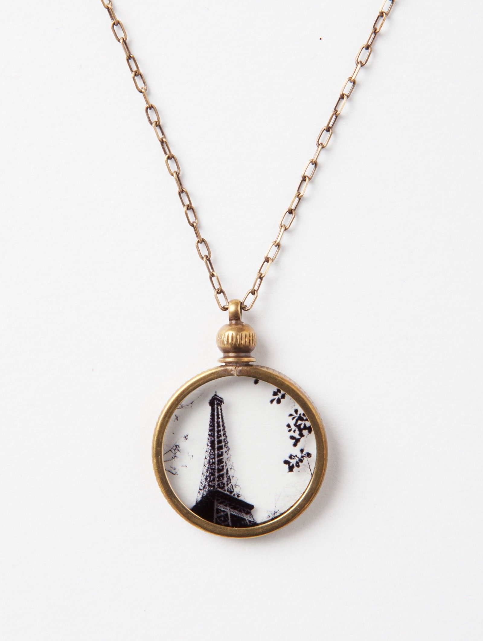 Eiffel tower pendant necklace by ornamental things