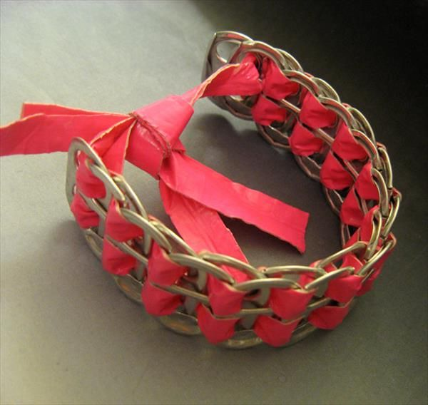DIY Duct Tape Soda Can Tab Bracelet | 101 Duct Tape Crafts