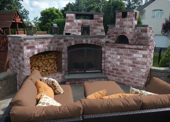 Ep Henry Outdoor Fireplace And Pizza Oven Finished With