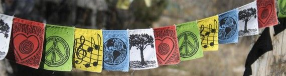 This is the perfect gift for my Mom.  Who doesn't love prayer flags and the earth!