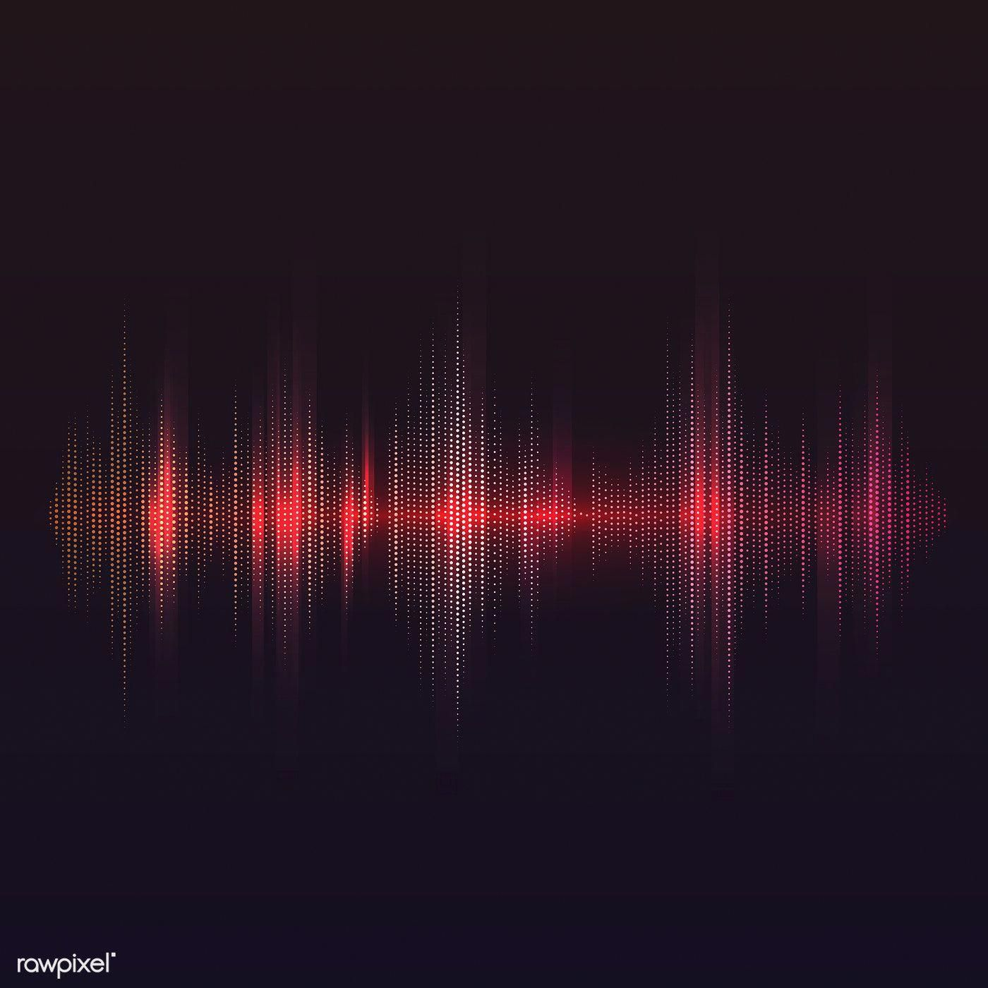 Red sound wave equalizer vector design free image by